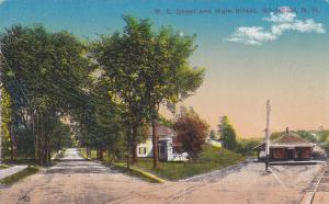 WHITEFIELD, New Hampshire, 1900-10s; M. C. Depot and Main Street