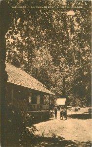 Artvue Linslaw Oregon The Lodge 4-H Summer Camp  1940s Postcard 8188