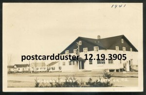 dc255 - BERTHIER Quebec 1940s Auberge Picarde Hostel. Real Photo Postcard