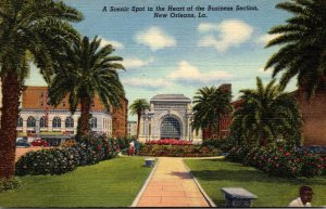 Louisiana New Orleans Scenic Spot In Heart Of The Business Section Curteich