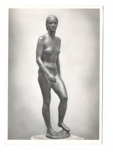 RPPC Sculpture Aufsteigende Nude Ascending Richard Scheibe Berlin 4X6 Postcard