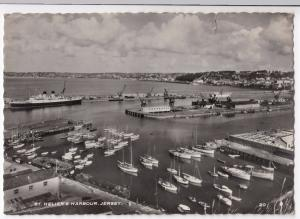 Jersey; St Helier's Harbour RP PPC  Shows Docks & Boats in Harbour