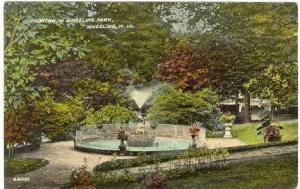 Fountain In Wheeling Park, Wheeling, West Virginia, 1910-1920s
