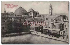 Postcard Old Jerusalem Plscine D & # 39Ezechlas