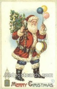 Santa Claus Chirstmas Carte, Postal Postal writing on back
