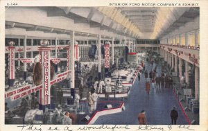 Interior of Ford Motor Co. Exhibit, Chicago, Century of Progress, 1934 Postcard