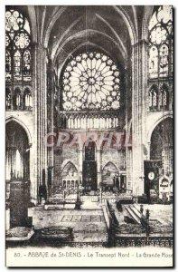 Postcard Abbey of St Denis North Transept Big Pink