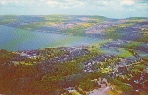 New York Seneca Lake and Watkins Glen Aerial View