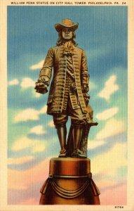 Pennsylvania Philadelphia William Penn Statue On City Hall Tower