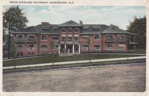 South Highland Infirmary Birmingham Alabama Postcard