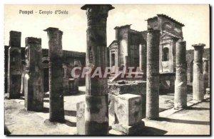 Old Postcard Pompei Tempio of Iside