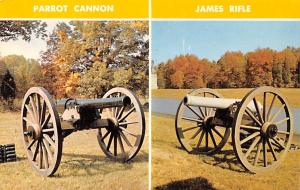 Civil War Post Card Old Vintage Antique Postcard Parrot Cannon & James Rifle ...