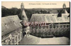 Old Postcard St Fargeau and the Castle Castle