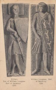 Wiliam Son Of Longspee Antique Knight of Salisbury Postcard