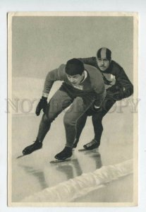 428092 SPORT Olympiade 1932 US SKATING Eddie Shea Sammelwerk Tobacco ADVERTISING