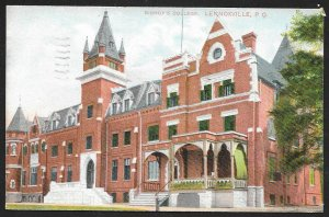 Bishops College Lennoxville CANADA Used c1909