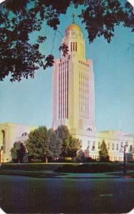 Nebraska Lincoln State Capitol Building 1954