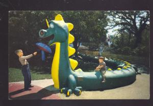 OAKLAND CALIFORNIA CHILDREN'S FAIRYLAND AMUSEMENT PARK OLD POSTCARD DRAGON