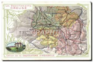Old Postcard geographical maps of Chocolaterie & # 39Aiguebelle Creuse Chatea...