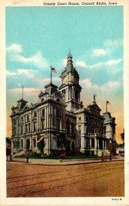 Iowa Council Bluffs County Court House Curteich