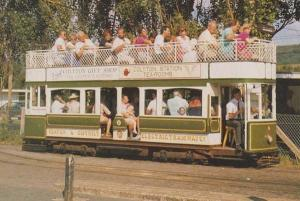 Beaton & District Tram Bus Tramway Company Colyton to Seaton Route Postcard