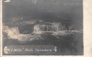 E44/ Twinsburg Ohio Real Photo RPPC Postcard 1908 Old Mills Falls River