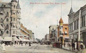 Main Street Scene BOISE Idaho 1913 RPO Cancel Vintage Postcard