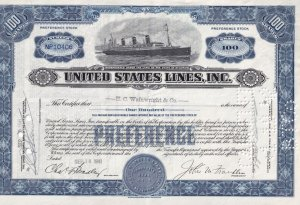Preference Stock Certificate 100 Shares - NP10404, S.S. Leviaton, H.C. Wainwr...