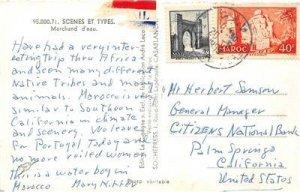 Marchand d'eau, Scenes et Types, Casablanca, Morocco, Africa 1958 Postcard