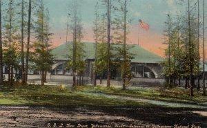YELLOWSTONE PARK, Wyoming, 1900-10s ; New C.S.L. Railroad Train Depot