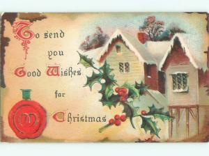 Divided-Back CHRISTMAS SCENE Great Postcard W9317
