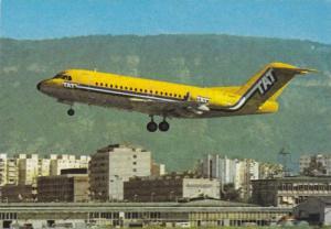 T.A.T. Folkker F-28 airplane,  60-80s