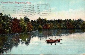 Massachusetts Bridgewater Boating On Carvers Pond 1916