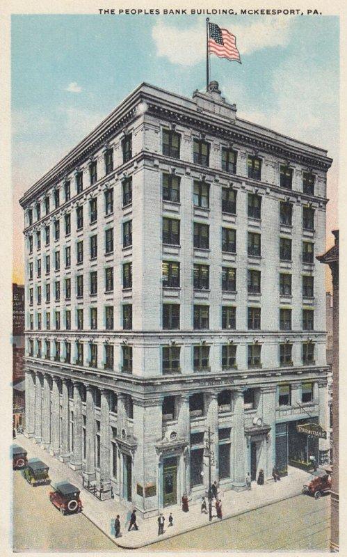 MCKEESPORT , Pennsylvania , 1910s ; People's Bank Building