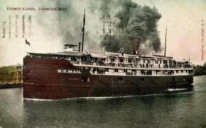 MI - Ludington. SS Illinois       (crease)