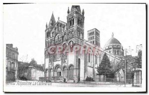 Old Postcard Angouleme The Cathedral