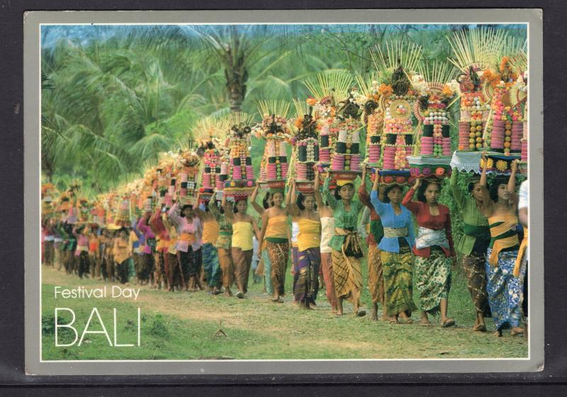 Indonesian Color Card. Festival Day. BALI