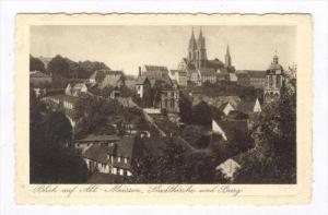 Blick auf Alt-MEISSEN , Germany, 00-10s, Stadtkirche und Burg