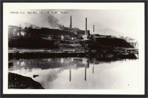 Kellogg Idaho Bunker Hill Smelter 1940s Mining RPPC Postcard by Cecil Nixon