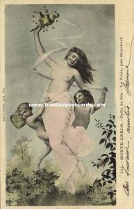 Nude Girl with Angels by Leon Hodebert, Salle de Jeu in Monte Carlo (1904)