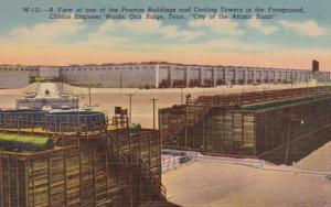 Tennessee Oak Ridge View Of Process Buildings and Cooling Towers Curteich