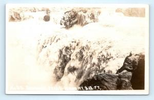 Postcard ID Shoshone Falls RPPC Wesley Andrews Waco Real Photo #2 D24