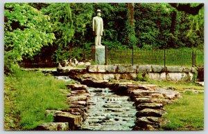 Lynchburg Tennessee~Jack Daniels Distillery~Statue & Spring~Waterfall~Ducks~1960