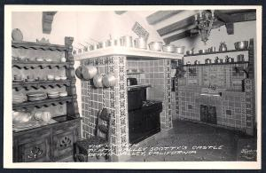 Kitchen @ Scotty's Castle RPPC unused c1940's