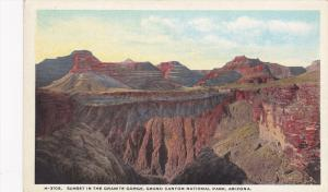 Fred Harvey #H-3105, Sunset in the Granite Gorge, Grand Canyon National Park,...