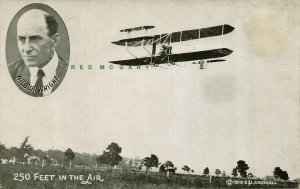 1910 Atlantic MA Postcard: Wilbur Wright Flight, Carried Aloft?