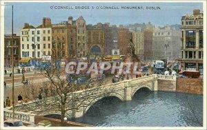 Postcard Modern Dublin o o connell connell bridge and monument