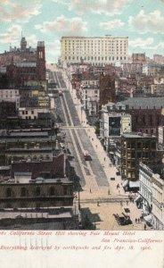 SAN FRANCISCO, CA, PU-1907; California St. Hill, Fair Mount Hotel, Earthquake