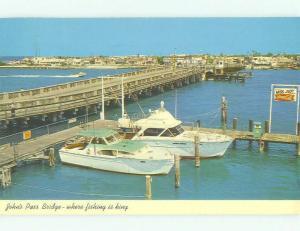 Pre-1980 COCA-COLA SIGN & GAS STATION ON DOCK St. Petersburg Florida FL HJ0637