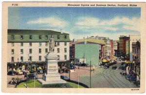 Portland, Maine, Monument Square and Business Section